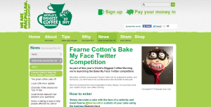 Fearne Cotton s Bake My Face twitter competition   News   Coffee Morning